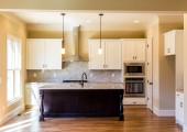 Sunlight in Empty Modern Kitchen — Stock Photo