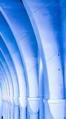 Line of Blue Arches — Stock Photo