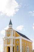 Yellow Church in Curacao — Stock Photo
