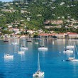 Постер, плакат: White Boats in Blue Bay off St Thomas