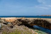 Natural Bridge Over Deep Blue Sea — Stock Photo