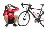 Flat tire bike — Foto Stock