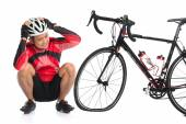 Flat tire bike — Stock Photo