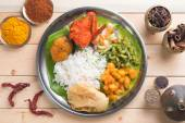 Overhead view of Indian mixed rice — Stock Photo