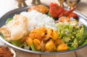 Indian mixed rice on dining table. — Stock Photo