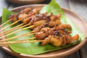 Asian chicken satay — Stock Photo