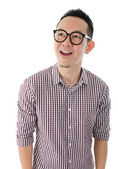 Shocked Asian guy — Stock Photo