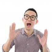 Asian male get shocked  — Stock Photo