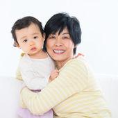 Grandma and granddaughter — Stock Photo