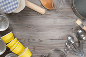 Baking tools from overhead view — Stock Photo
