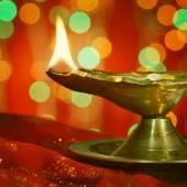 Diwali oil lamp, Indian lamp — Stok fotoğraf