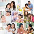 Collage photo of mothers and offsprings — Foto de Stock   #72169143