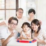 Asian Multi Generation Family Relaxing — Stock Photo #72169255