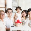 Asian multi generations lifestyle — Stock Photo #72169285