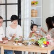 Family eating at home — Stock Photo #72169339
