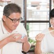 Asian Senior Couple Eating — Stock Photo #72169367