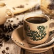 Traditional style Nan Yang coffee in vintage mug — Stock Photo #80597230