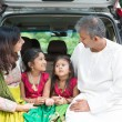 Indian family going to vacation — Stock Photo #82194358