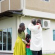 Rear view of Indian family — Stock Photo #82194456
