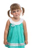 Portrait of a little three year old charming girl — Stock Photo