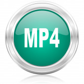 Mp4 internet icon — Stock Photo