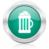 Ikona internet piwa — Zdjęcie stockowe