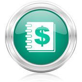 Icône internet argent — Photo