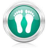Foot internet icon — ストック写真