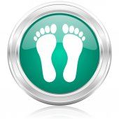 Foot internet icon — Stock fotografie