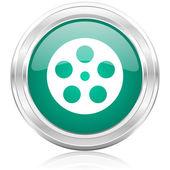 Film internet icon — Stock Photo