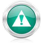 Exclamation sign internet icon — Stock Photo
