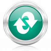 Rotation internet icon — Stock Photo
