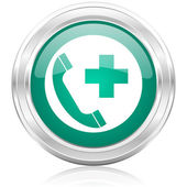 Emergency call internet icon — Stock Photo