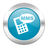 Mms internet blue icon — Stock Photo