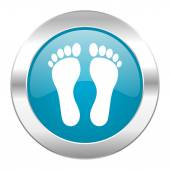 Foot internet icon — Stock Photo