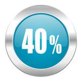 Ikona internet 40 procent — Zdjęcie stockowe