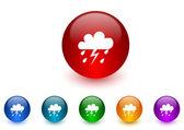 Rain internet icons colorful set — Stock Photo