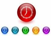 Clock internet icons colorful set — Stock Photo