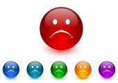 Cry internet icons colorful set — Stock Photo
