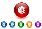 Game internet icons colorful set — Stock Photo