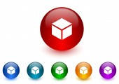Box internet icons colorful set — Stock Photo