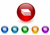 Layers internet icons colorful set — Stock Photo