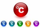 Celsius internet icons colorful set — Stock Photo