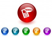 Mms internet icons colorful set — Photo