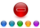 Battery internet icons colorful set — Stock Photo