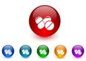 Medicine internet icons colorful set — Stock Photo
