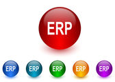 Erp internet icons colorful set — Stock Photo