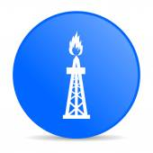 Gas internet blue icon — Stock Photo