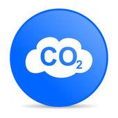 Carbon dioxide internet blue icon — Stock Photo