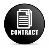 Contract icon — Stock Photo